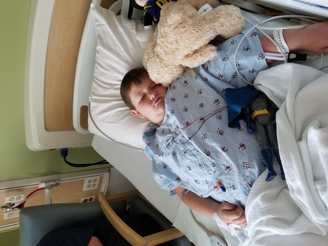 Matthew Goodwin in the hospital