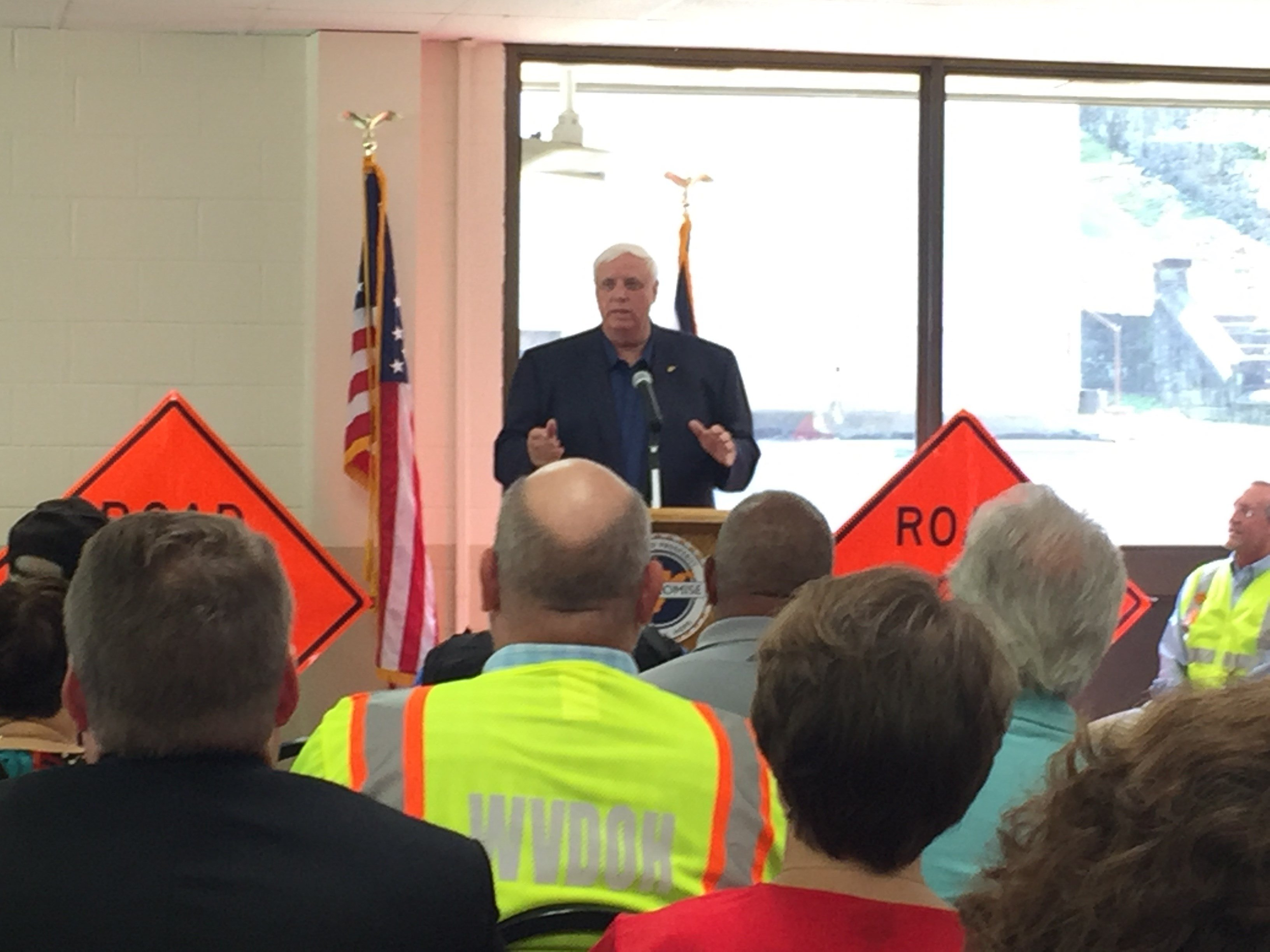 Jim Justice in Welch