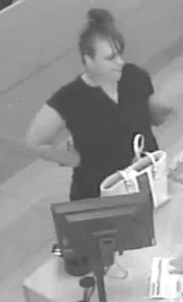 This woman is wanted for questioning in connection with an ID Theft investigation in Beckley.  Tips can be called in to CrimeStoppers of WV at 304-255-STOP.