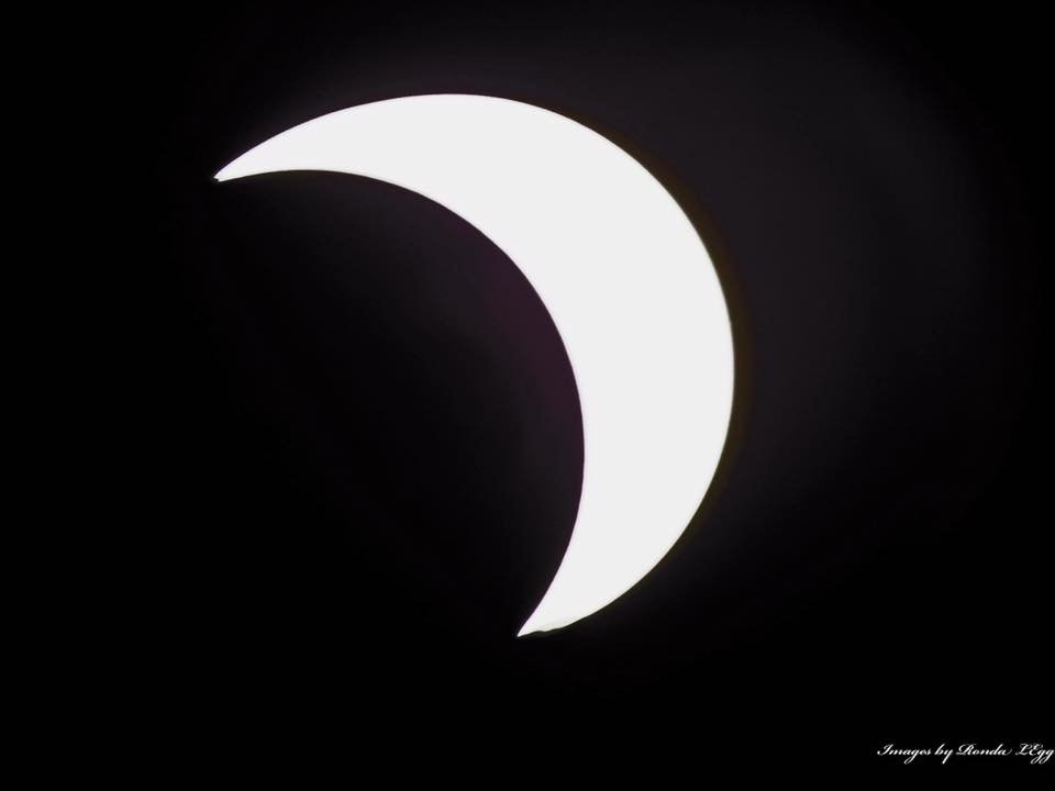 Solar Eclipse from Mount Lookout, WV.  Courtesy: Rhonda Legg