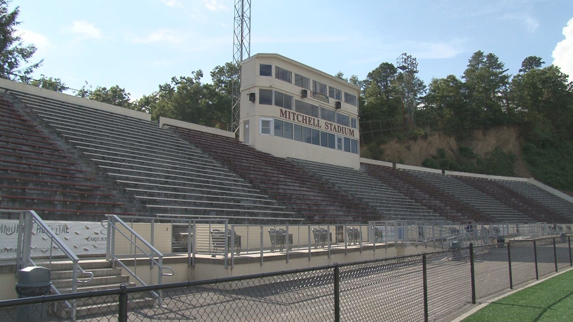 Mitchell Stadium, the host site for this Friday's Bluefield-Graham rivalry game.