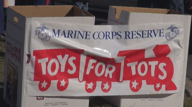 Volunteers collected donations for Toys for Tots