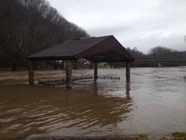 Amphitheater in Ronceverte, WV is under water