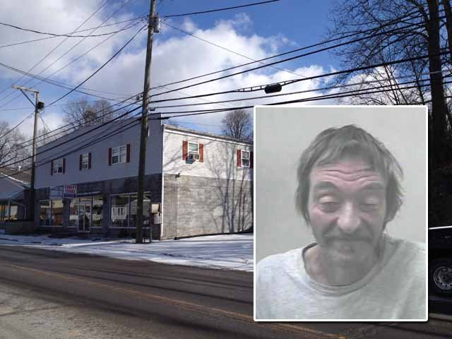 PICTURED: 1440 E. Main St and suspect Jeffrey Lafferty