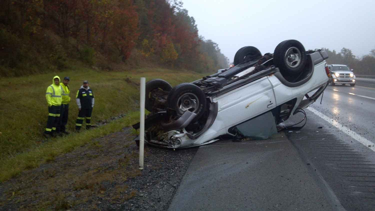 Only minor injuries are reported after an accident involving a deer on the West Virginia Turnpike (I-77)