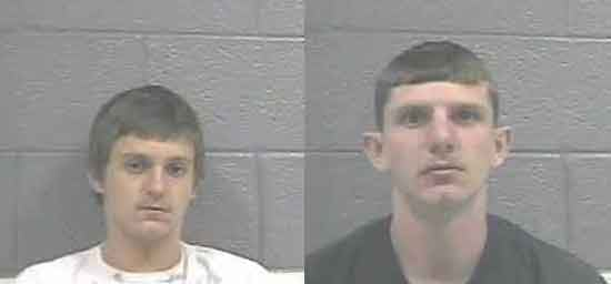 Jimmy Rush and Garry Martin are accused of breaking into vehicles in Greenbrier County.