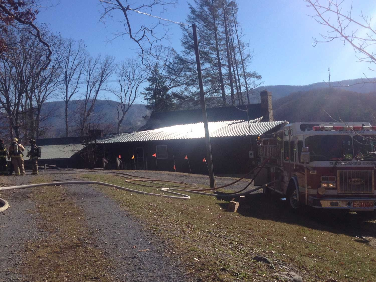 Route 60 reopened at around 12:30 p.m. A fire broke out at a house near Emmanuel Community Church in the Harts Run area of Greenbrier County