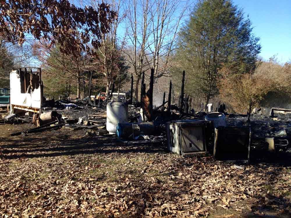 A house off of Laurel Creek Road in Fayette County caught fire on Thursday, Nov. 14.  No one was home at the time and no injuries are reported.