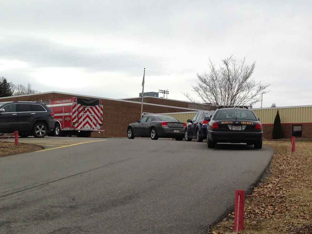 Students returned to class at Liberty High School following a bomb threat on Monday, Jan. 13.  State Police bomb dogs sniffed for explosives after students were evacuated to Trap Hill Middle.