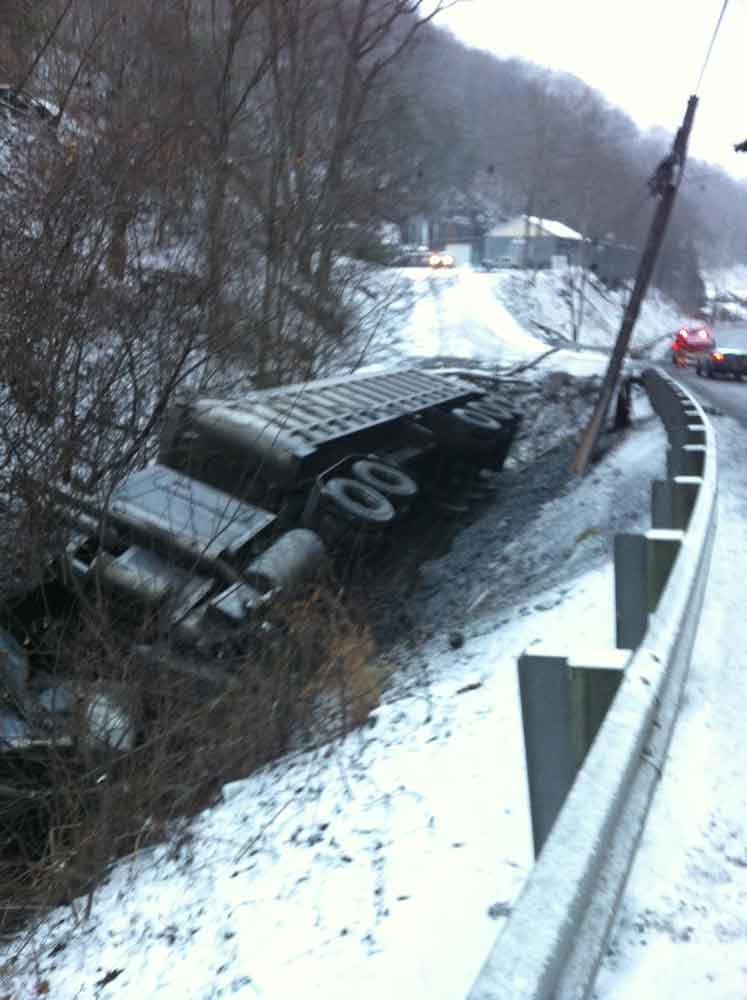 Coal truck takes out a power pole in Premier, WV.  Leaves more than 800 AEP customers in the dark.