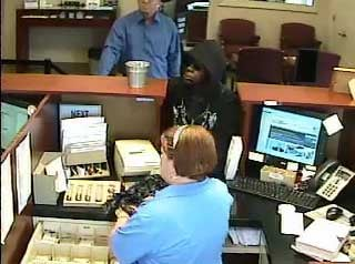 Attempted robbery at First Century Bank on College Ave in Bluefield, WV