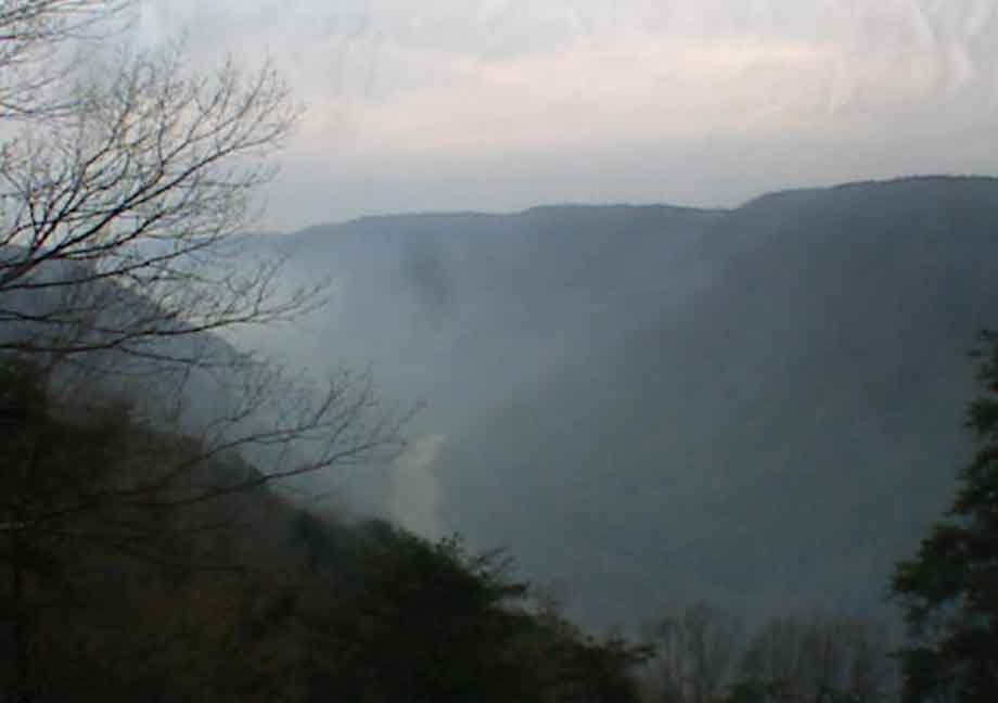 Brushfire in the New River Gorge spreads to 115 acres on Tuesday, April 22
