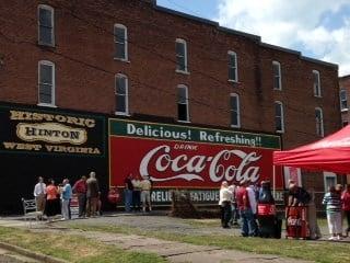 Hinton Celebrates Revitalization of Coca-Cola Mural