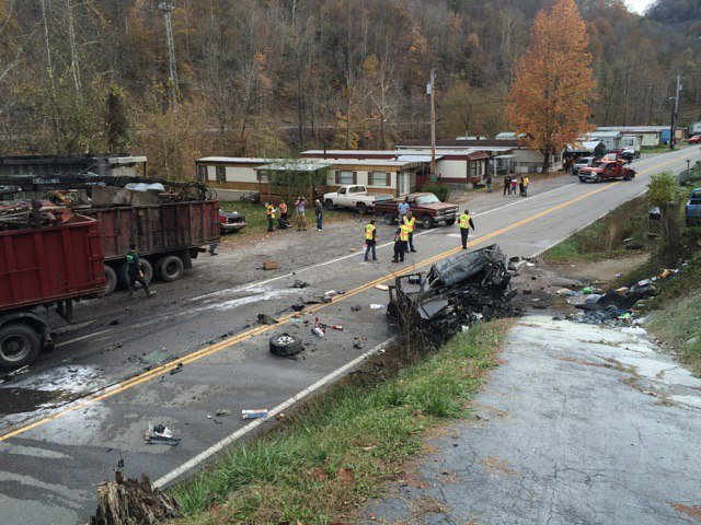 Two people taken to the hospital after an accident on Rt. 80 near Iaeger, WV.