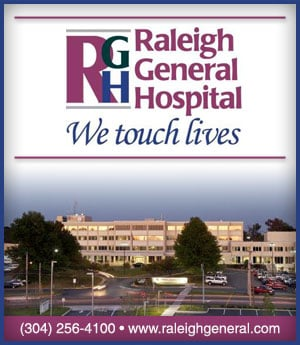 Raleigh General Hospital - sponsorship ad
