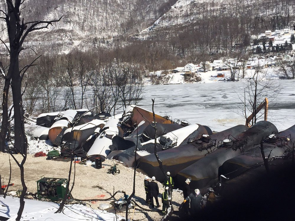 First look at the CSX tank cars that burned for nearly a week.