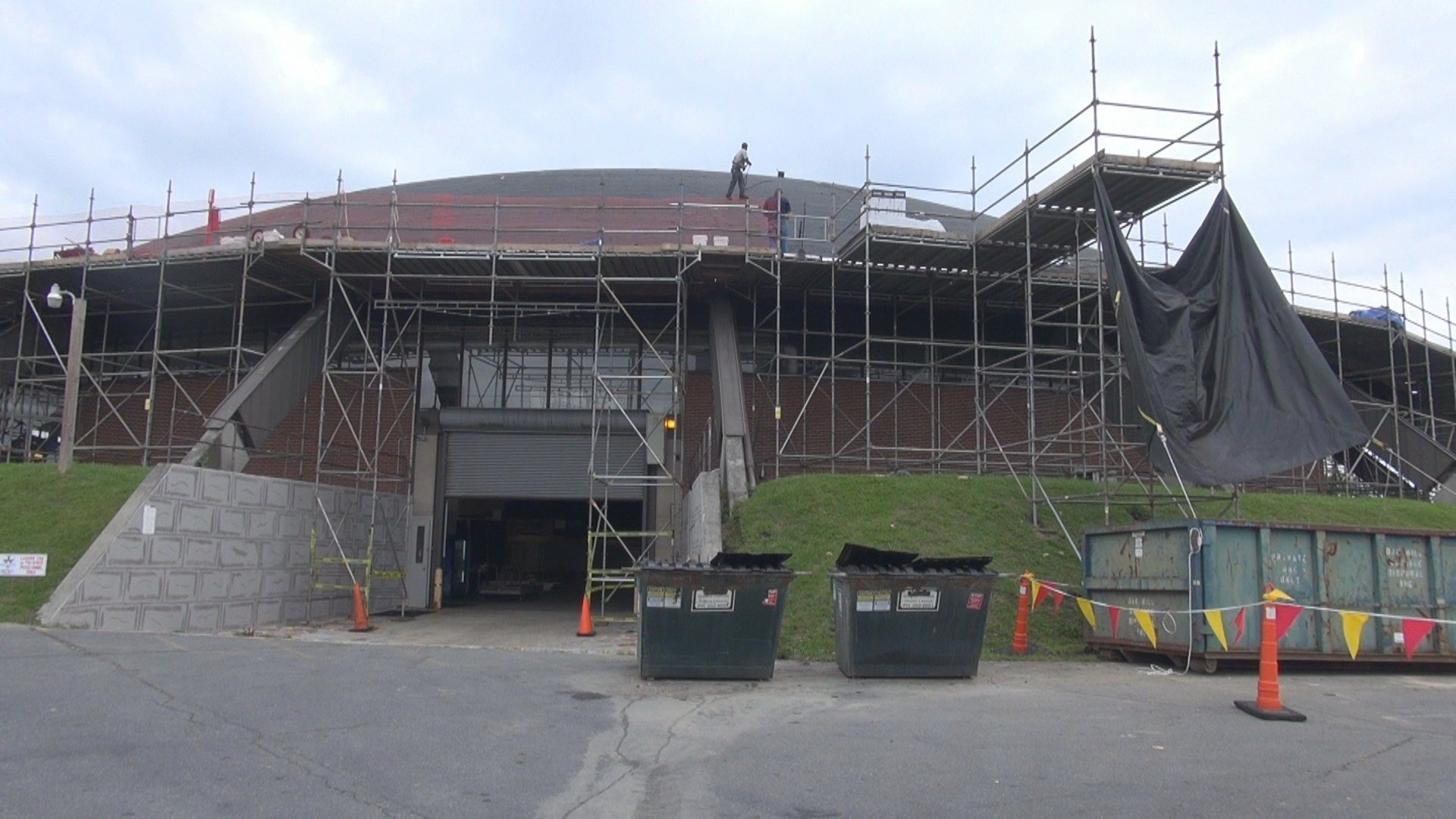 beckley raleigh county convention center roof construction under